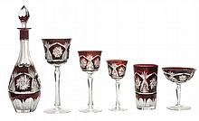 Ruby Cut-to-Clear Crystal Stemware,