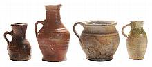 Four Early English Ceramic Vessels