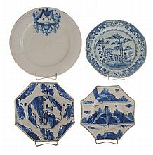 Three Early Delft Plates, Export Plate