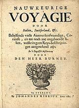 Burnet, (G.). Nauwkeurige Voyagie door Italiën, Sw