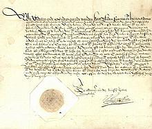 [Brabant]. Manuscript order addressed to