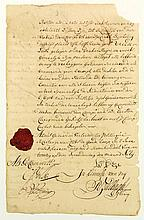 [VOC and WIC]. Manuscript document, one leaf, rect