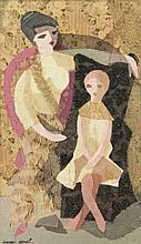 Apol, A.C. (1918-2000). (Woman and girl). Embroide