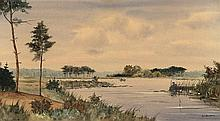 Knikker II, J.S. (1911-1990). (Lakeview with angle