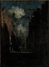 Ligtelijn, E.J. (1893-1975). (Amsterdam street wit