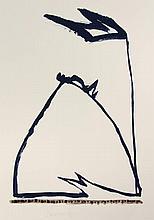 Landsaat, H. (b.1935). (Untitled). Gouache, 76x56,
