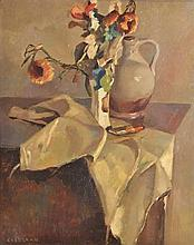 Laan, K. (1902-1975). (Still life with a vase with