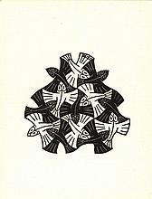 Escher, M.C. (1898-1972). (Vissen, vignet), (augus
