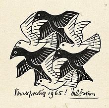 Escher, M.C. (1898-1972). (Vlakvullingsmotief met
