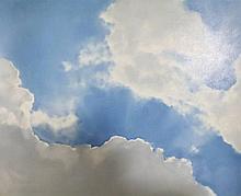 Grotenbreg, J. (b.1946). (Clouds). Oil on canvas,