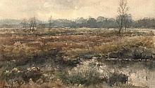 Manders, F. (b.1939). (Moor). Watercolour, 31,7x53