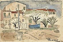 Kat, O.B. de (1907-1995). (Houses in Cras de Cagne