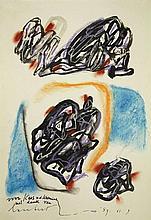 Lucebert (1924-1994). (Abstract composition). Draw