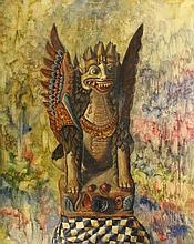 Kertonegoro, M. (b.1955). (Statue of Singha, the w