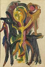 Hussem, W.F.K. (1900-1974). (Horseman). Oil on boa