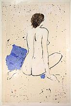 Schenk, P.J. (1944-2011). (Seated female nude seen