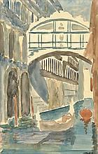 Tapié, M. (1909-1987). (Canal in Venice). Watercol