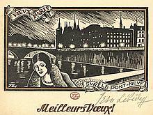 Lébédeff, J. (1884-1979). Lot of 6 New Year's wish