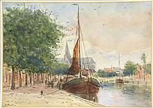 Hulk H. (1842-1937). (Moored ship along the Spaarn