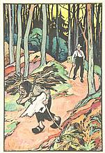 [Drawings]. Noorden, F.M. van (1887-1961). Lot of 9 drawings, all brush and