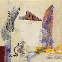 Schenk, P.J. (1944-2011). (Abstract composition). Mixed technique, drawing