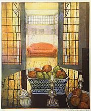 Schellekens, M. (b.1954). (Still life with an interior of a room in the bac