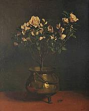 Witsen, W.A. (1860-1923). (Still life with a flowering Azalea plant in a br