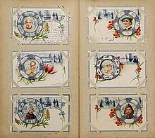 [Jugendstil and blue picture postcards]. Collection of 32 picture postcards