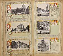 [Jugendstil picture postcards]. Collection of 82 picture postcards, ±1900-1