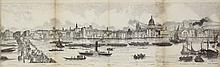 [Great Britain]. Grand panorama of London and the River Thames. London, Azu