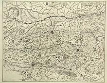 [Belgium]. (Two leaves of a wallmap of Flanders). Two engr. maps, both 40x5