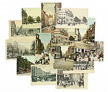 [Amsterdam]. Collection of ±40 postcards, ±1900-1920. - Incl. a few repaire