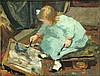 Bubb Kuyper: Auctioneers of Books, Graphic Art & Manuscripts, 5/22/2015: Lot 4848; Est.: €8,000-10,000, Arntzenius, P.F.N.J. (1864-1925). (Liesje drawing). Oil on canvas, later la