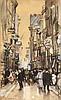 Bubb Kuyper: Auctioneers of Books, Graphic Art & Manuscripts, 5/22/2015: Lot 4854; Est.: €10,000-15,000, Arntzenius, P.F.N.J. (1864-1925). (Spuistraat in The Hague). Drawing, black