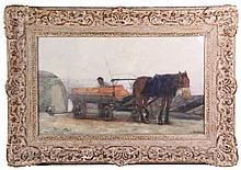 Arntzenius, P.F.N.J. (1864-1925). (A man loading bricks on a horse-drawn wa