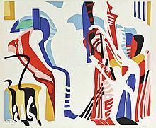 Kupka, F. (1871-1957). (Untitled composition). Col. silkscreen, 43,7x51,2 c
