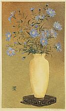 Grootens, A.J. (1864-1957). (Flowers in a vase). Colour monotype, 35,8x21,4