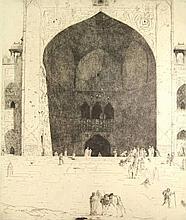 Bauer, M.A.J. (1867-1932). De ingang der Vrijdag Moskee te Delhi. Large etc