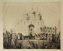 Bauer, M.A.J. (1867-1932). De kroning van czaar Nicolaas II. (The coronatio