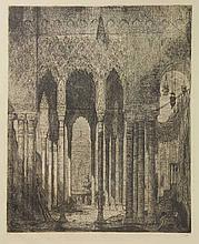 Bauer, M.A.J. (1867-1932). Een oostersch paleis in Engelsch Indië. Etching,