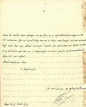 [Netherlands]. Fagel, F. (1659-1747). AUTOGRAPH LETTER SIGNED