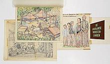 [Children's books]. Zee, T. van der (act. 1952). Collection of ±26 original drawings for TH. and A.