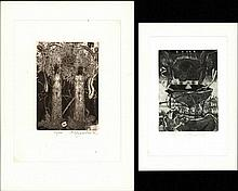 Ondreicka, K. (1944-2003). Lot of 22 ex libris, incl. 5 duplicates, all etchings, various sizes, all