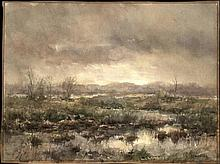 Manders, F. (b.1939). (Moor). Watercolour, 34x46 cm., signed