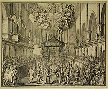 Hooghe, R. de (1645-1708). Death and Funeral of Mary Stuart Queen of England - 1695. Westminster Abb