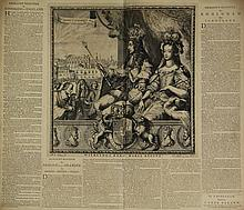 Hooghe, R. de (1645-1708). Allegory on the coronation of Willem III and Mary Stuart. Etching with su