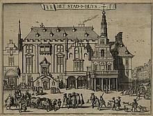 [Haarlem and surroundings]. Hooghe, R. de (1645-1708). Het Stad-Huys. Copperengraving, 17,5x23,5 cm.
