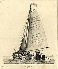 [Ships]. Groenewegen, G. (1754-1826). Lot of 11 etchings of ships, each ±12x15 cm., all w. engr. cap