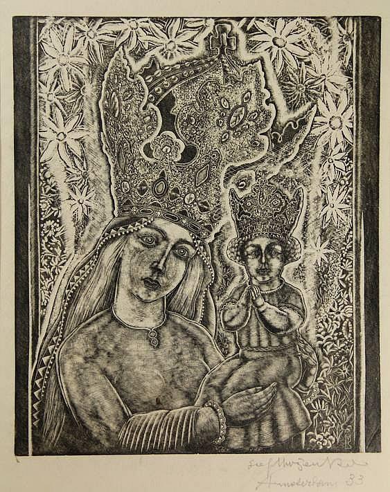 Mrozewski, S. (1894-1975). (Mary and Christ).