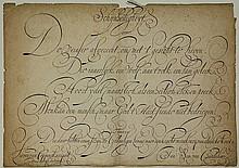 [Calligraphy]. Coppenol, L.W. van (1598-1667).